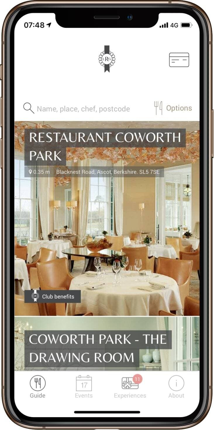 Homepage Luxury Restaurant Guide