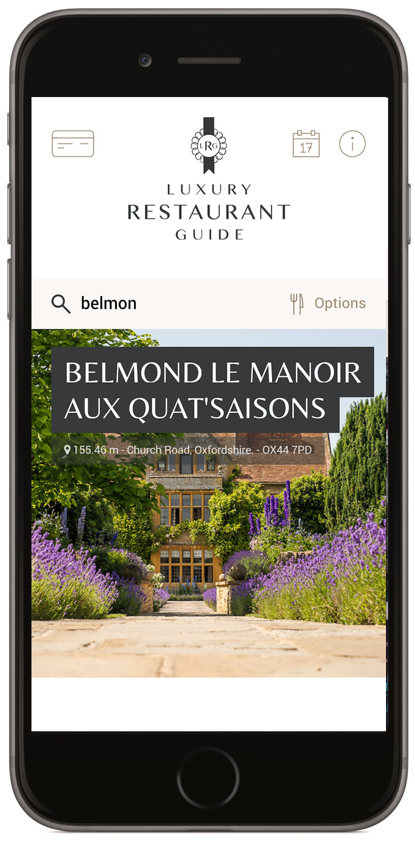 Luxury Restaurant Guide App