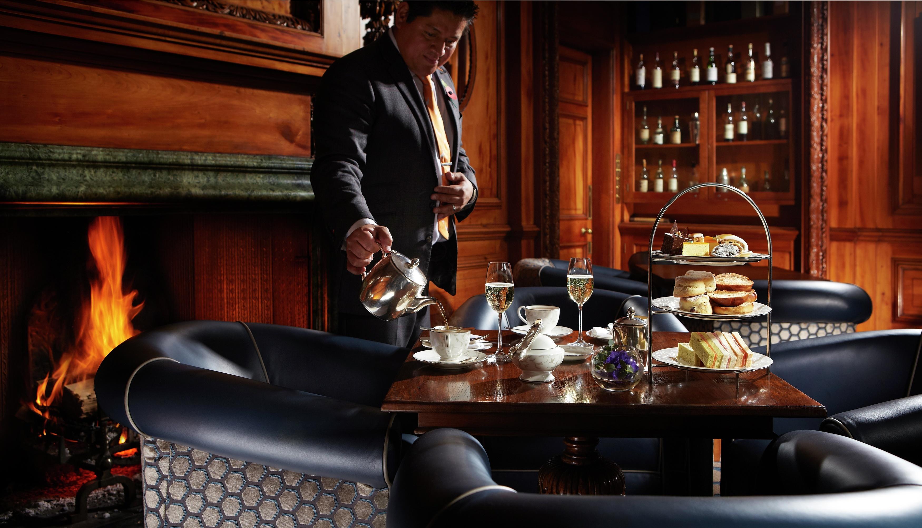 Lainston House Hotel Cedar Bar Afternoon Tea