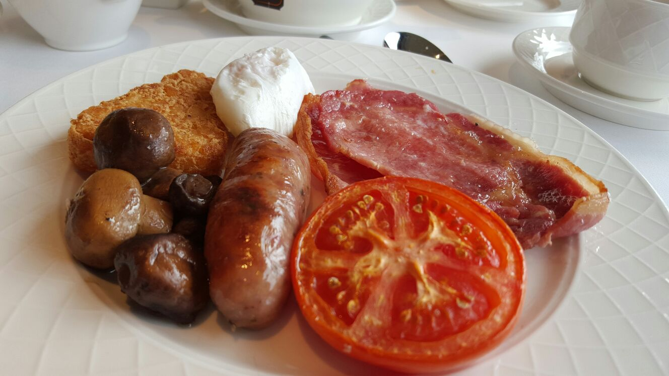 Full English breakfast at Petersham Hotel