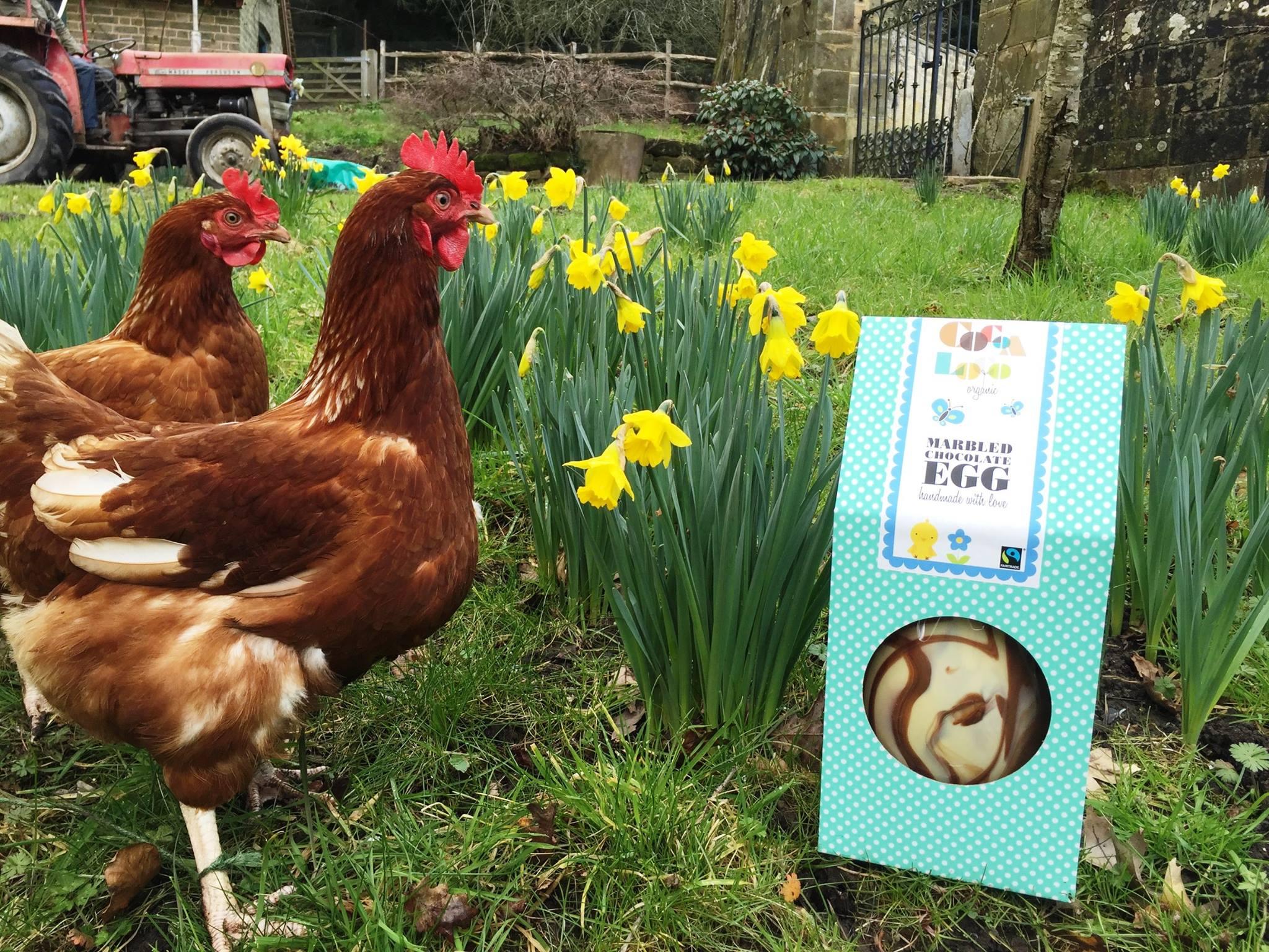 Hens at Gravetye Manor