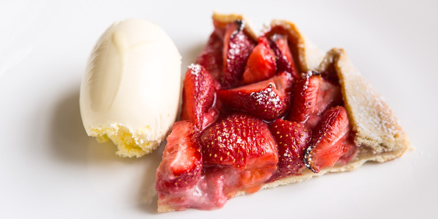 Strawberry and almond tart Russll Bateman