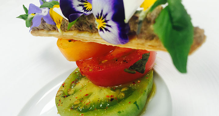 Heritage Tomatoes with Burrata by Helene Darroze at The Connaught