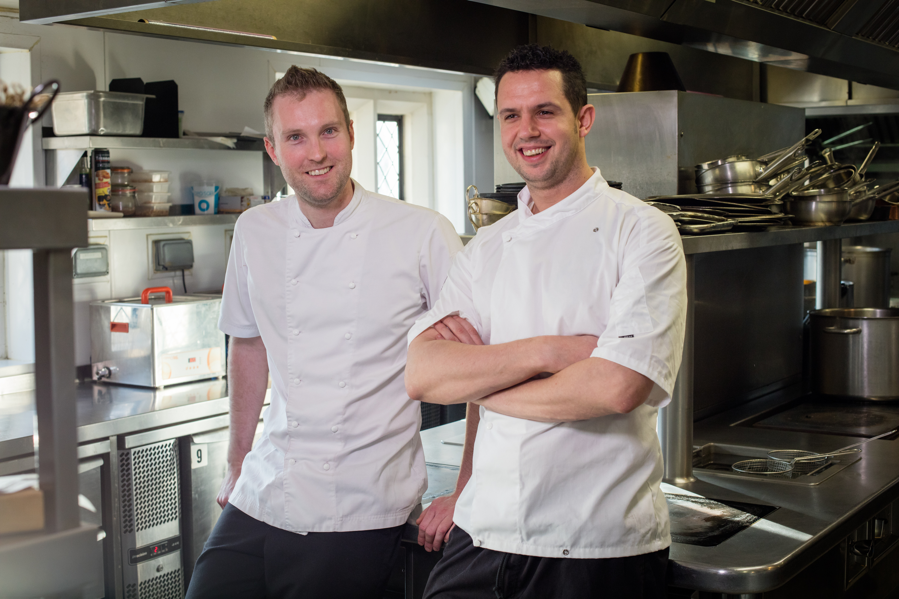 Head Chef Douglas Balish with Executive Chef Marc Hardiman