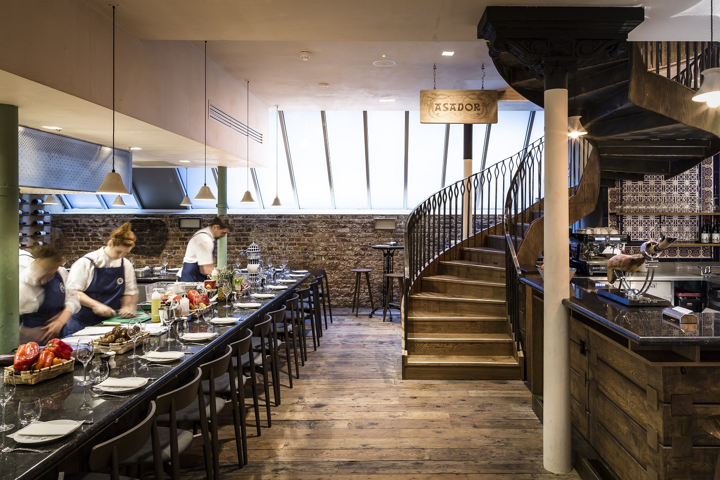 Restaurant and stair case_Chris Terry