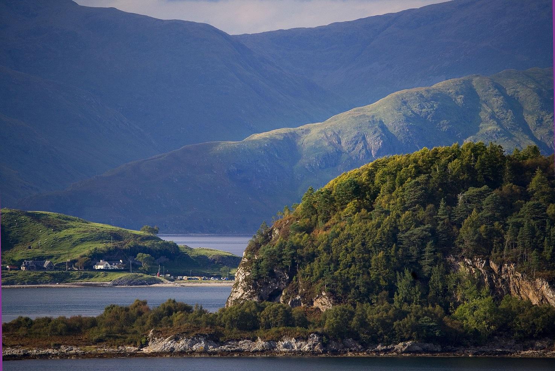 Eriska View Port Appin and Morvern hills