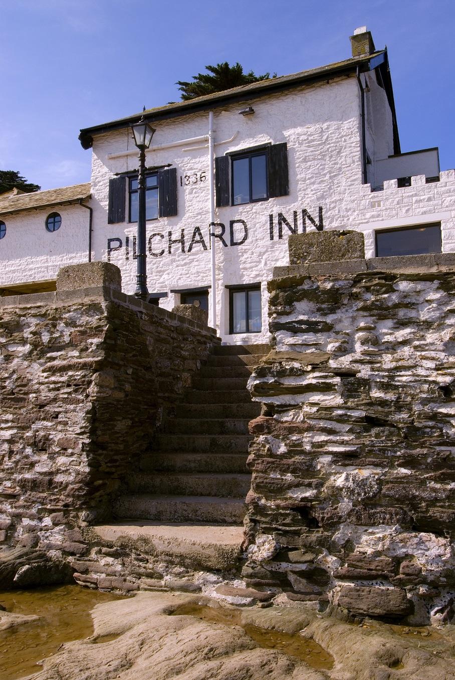 The Pilchard Inn from the beach access