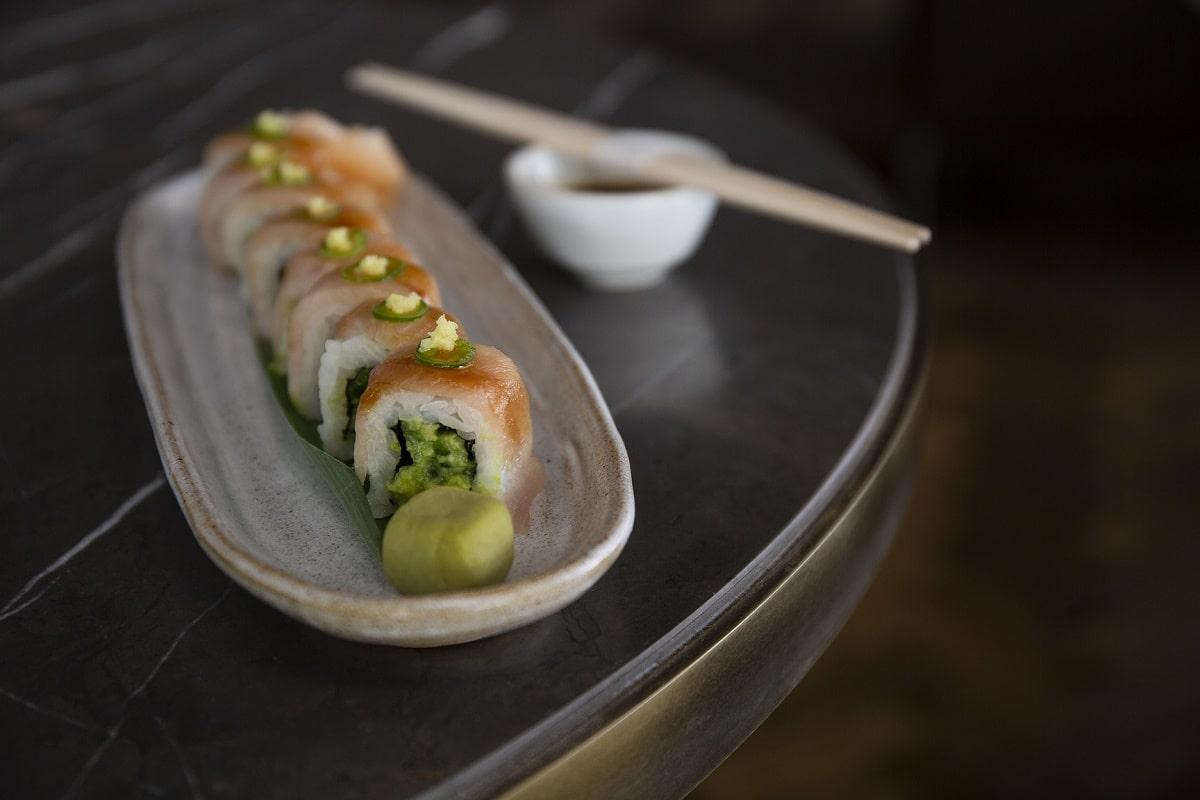 Laurent at Café Royal - Yellowtail Jalapeño-Ginger Sushi-min