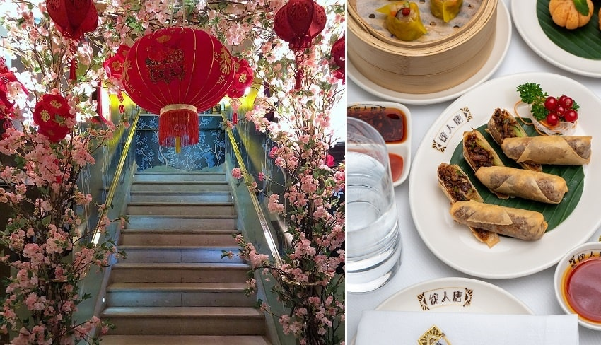 China tang floral installation and duck spring rolls-min.jpg